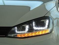 Фото 1 - Передние фары для Volkswagen Golf VII '12-, TLZ (ASP)
