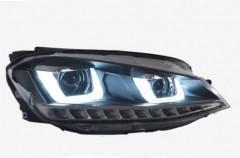 Фото 1 - Передние фары для Volkswagen Golf VII '12-, TLZ с бегущими указателями поворотов (ASP)