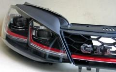 Фото 5 - Передние фары для Volkswagen Golf VII '12-,  LD стиль GTI 7.5 (ASP)