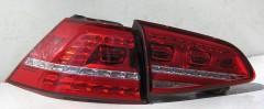 Фото 2 - Фонари задние для Volkswagen Golf VII '12-, LED (ASP)