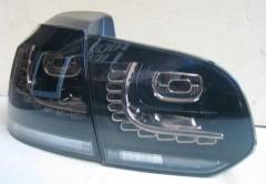 Фото 1 - Фонари задние для Volkswagen Golf VI '09-12, LED R20, тонированные  (ASP)
