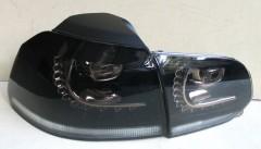 Фото 2 - Фонари задние для Volkswagen Golf VI '09-12, LED R20, тонированные  (ASP)