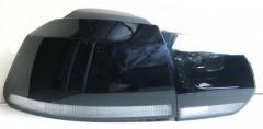 Фото 1 - Фонари задние для Volkswagen Golf VI '09-12, LED R20, черные (ASP)
