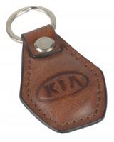 "Брелок для ключей коричневый с логотипом ""Kia"""
