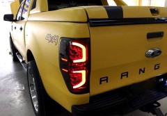Фото 1 - Фонари задние для Ford Ranger '11-, LED, черные (ASP)