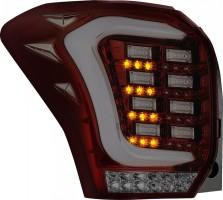 Фото 1 - Фонари задние для Subaru Forester '13-18, LED, тонированный хром (ASP)