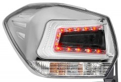 Фото 1 - Фонари задние для Subaru XV '11-16, LED, хром прозрачный (ASP)