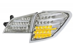 Фото 2 - Фонари задние для Subaru Outback '09-14, LED, хром BR9 (ASP)