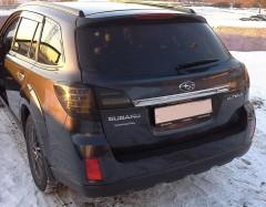 Фото 1 - Фонари задние для Subaru Outback '09-14, LED, тонированный хром BR9 (ASP)