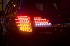 Фото 4 - Фонари задние для Subaru Outback '09-14, LED, тонированный хром BR9 (ASP)