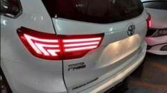 Фонари задние для Toyota Highlander '14-, LED, черные, Lexus style (ASP)