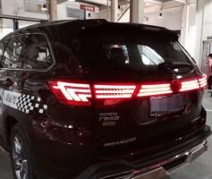 Фонари-вставка задние для Toyota Highlander '14-, LED, красные (ASP)