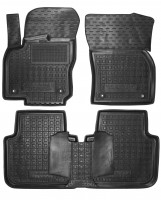 Коврики в салон для Volkswagen Tiguan Allspace '16- резиновые, черные (AVTO-Gumm)