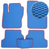 Коврики в салон для Ford Focus II '04-11, EVA-полимерные, синие с красной тесьмой (Kinetic)