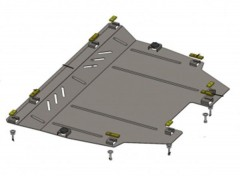 Защита двигателя и КПП, радиатора для Ford Fusion USA 2012-, V-все (Кольчуга) Zipoflex