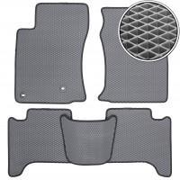 Коврики в салон для Toyota LC Prado 120 '03-09, EVA-полимерные, серые с черной тесьмой (Kinetic)
