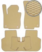 Коврики в салон для Volkswagen Passat USA 2011-2019, EVA-полимерные, бежевые (Kinetic)