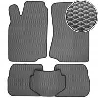 Коврики в салон для Volkswagen Passat B3/B4 '88-96, EVA-полимерные, серые с черной тесьмой (Kinetic)