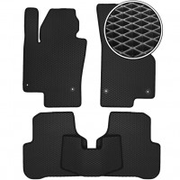 Kinetic Коврики в салон для Audi 100 /A6 '91-97, EVA-полимерные, черные с серой тесьмой (Kinetic)