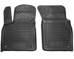 Коврики в салон передние для Audi Q8 '18- резиновые, черные (AVTO-Gumm)