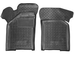Коврики в салон передние для Lada (Ваз) 21099 '90-11 резиновые, черные (AVTO-Gumm)