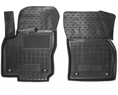 Коврики в салон передние для Volkswagen Tiguan Allspace '16- резиновые, черные (AVTO-Gumm)