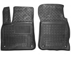 Коврики в салон передние для Volkswagen Touareg '18- резиновые, черные (AVTO-Gumm)