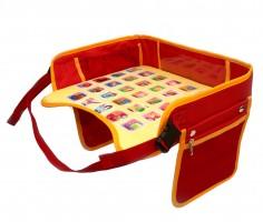 Детский столик-азбука для автокресла, красный EasyWay