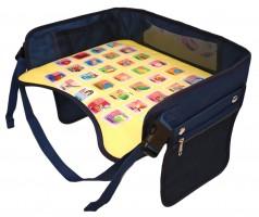 Детский столик-азбука для автокресла, синий EasyWay