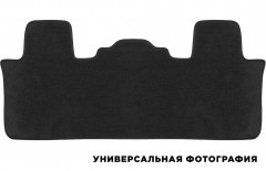 Коврик в салон для Hyundai Santa Fe '18- DM 7 мест, 3 ряд, текстильные, черные (Премиум)