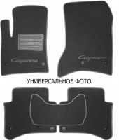 Коврики в салон для Porsche Cayenne '17- текстильные, серые (Премиум) 8 клипс