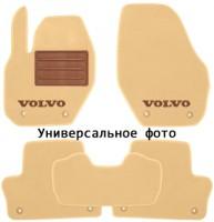 Коврики в салон для Volvo XC60 '17- текстильные, бежевые (Премиум) 4 клипсы