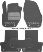 Коврики в салон для Volvo XC60 '17- текстильные, серые (Премиум) 4 клипсы