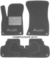 Коврики в салон для Audi A8 '18- текстильные, серые (Премиум) 8 клипс