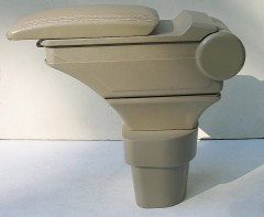 Фото 2 - Подлокотник ASP Hody для Hyundai Accent '06-10 виниловый (бежевый)