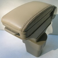 Фото 3 - Подлокотник ASP Hody для Hyundai Accent '06-10 виниловый (бежевый)