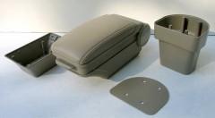 Фото 6 - Подлокотник ASP Hody для Hyundai Accent '06-10 виниловый (бежевый)
