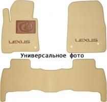 Коврики в салон для Lexus UX '18-, текстильные, бежевые (Премиум) 2 клипсы