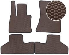 Коврики в салон для BMW X6 F16 '15-, EVA-полимерные, коричневые (Kinetic)