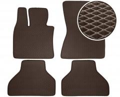 Коврики в салон для BMW X5 E70 '07-13, EVA-полимерные, коричневые (Kinetic)