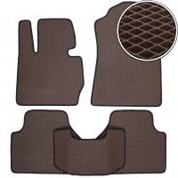 Коврики в салон для BMW X4 '14-, EVA-полимерные, коричневые (Kinetic)