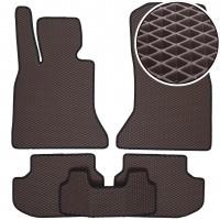 Коврики в салон для BMW 5 F10/11 '13-16, EVA-полимерные, коричневые (Kinetic)