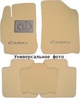Коврики в салон для Toyota Camry V70 '18- текстильные, бежевые (Премиум) 2 клипсы