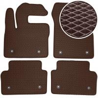 Коврики в салон для Jaguar E-Pace '17-, EVA-полимерные, коричневые (Kinetic)