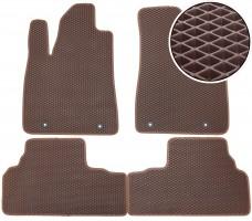 Коврики в салон для Lexus RX '09-12, EVA-полимерные, коричневые (Kinetic)