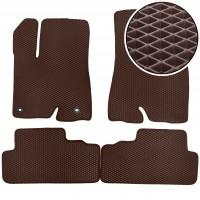 Коврики в салон для Toyota Highlander '14-, EVA-полимерные, коричневые (Kinetic)