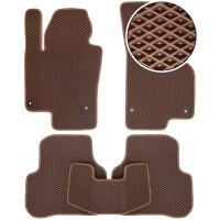 Коврики в салон для Volvo S90 '16-, EVA-полимерные, коричневые (Kinetic)