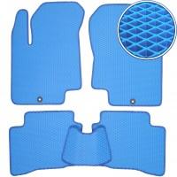 Коврики в салон для Hyundai i-20 '08-14, EVA-полимерные, синие (Kinetic)