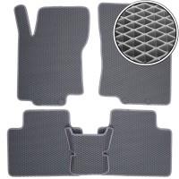 Коврики в салон для Nissan X-Trail (T32) '14-, EVA-полимерные, серые (Kinetic)