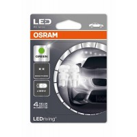 Фото 2 - Автомобильная лампочка Osram LEDriving Standard Green W5W, W2.1x9.5d, 1W 12V (2шт.)